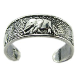 Elephant Toe Ring in 925 Silver